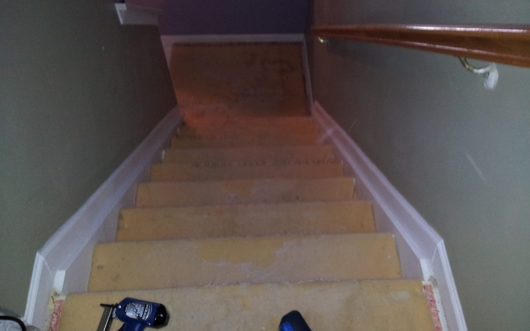 4-10-2012 Elkridge, MD – Replaced stair carpeting
